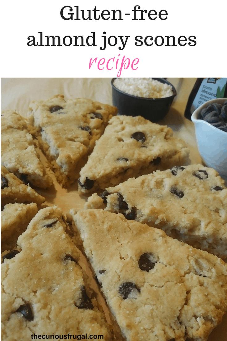 Gluten-free almond joy scones