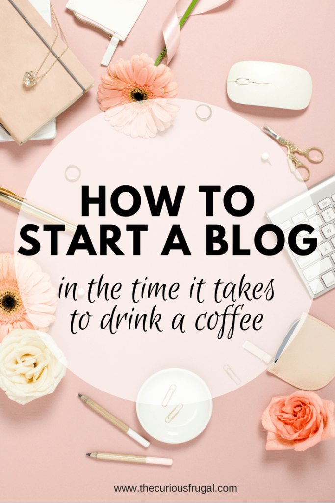 How to start a blog in the time it takes to drink a coffee