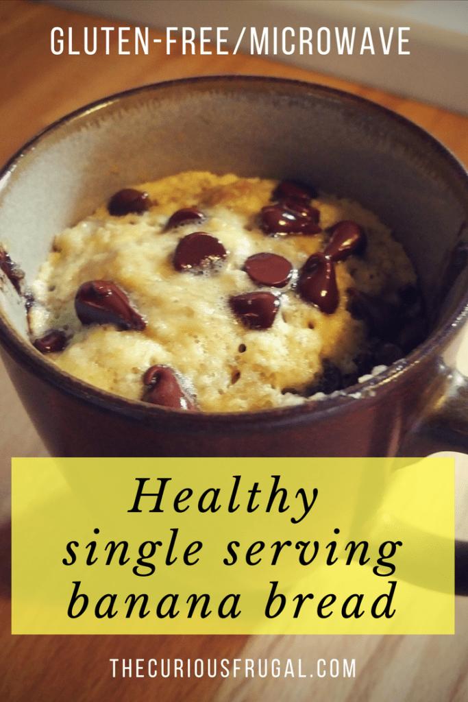 Healthy single serving banana bread   gluten-free mug cake   gluten-free microwave muffin