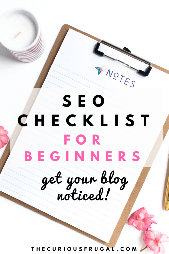 SEO checklist for beginners | seo for beginners | seo for beginner bloggers | seo checklist