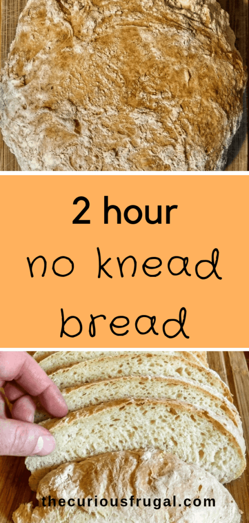 Faster No Knead Bread Without Dutch Oven The Curious Frugal