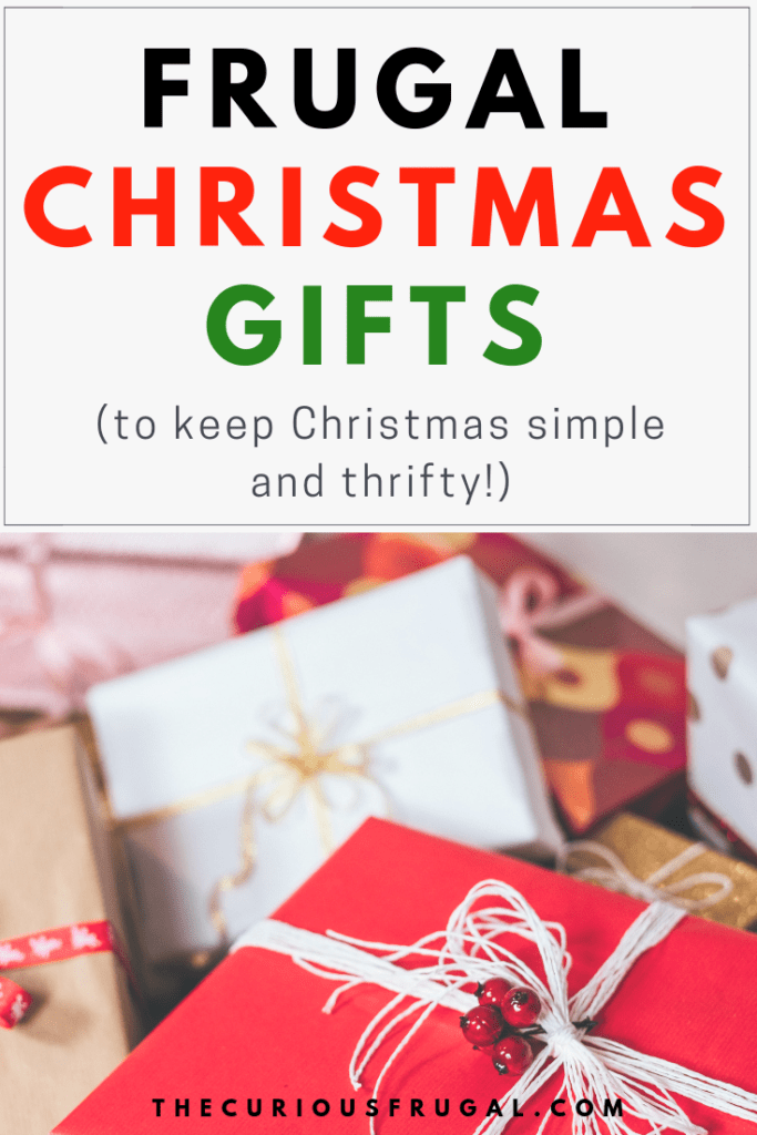 frugal Christmas gifts | keep Christmas simple | frugal living