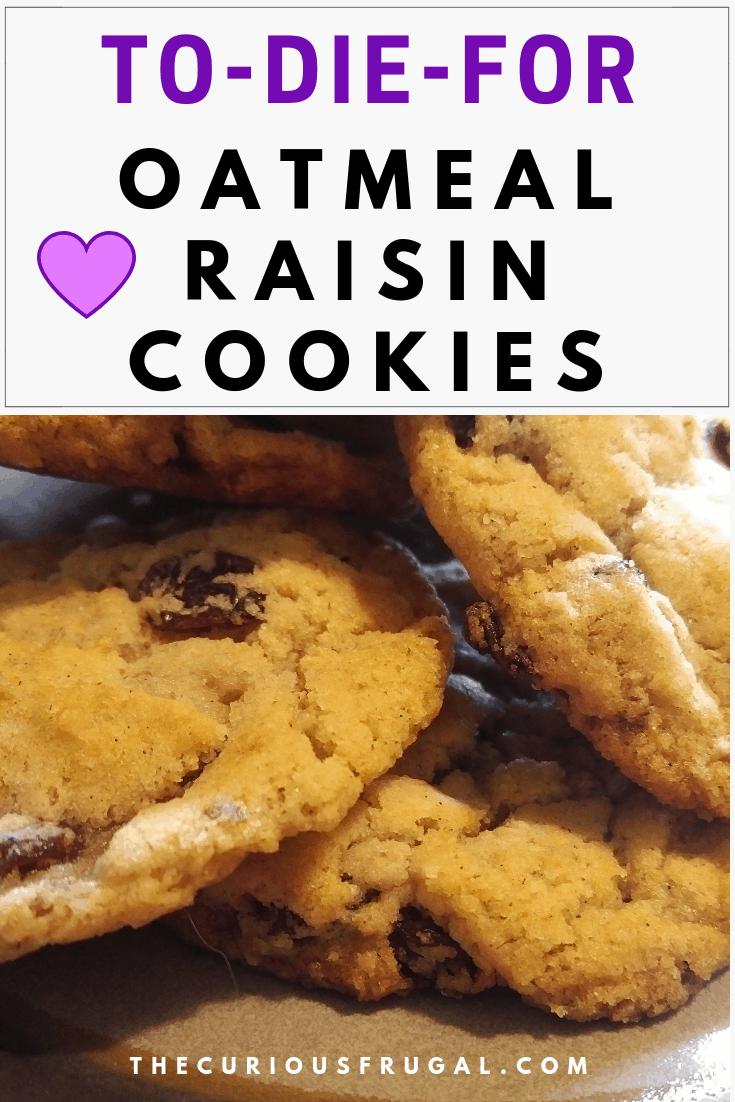 The Best Vegan Oatmeal Raisin Cookies