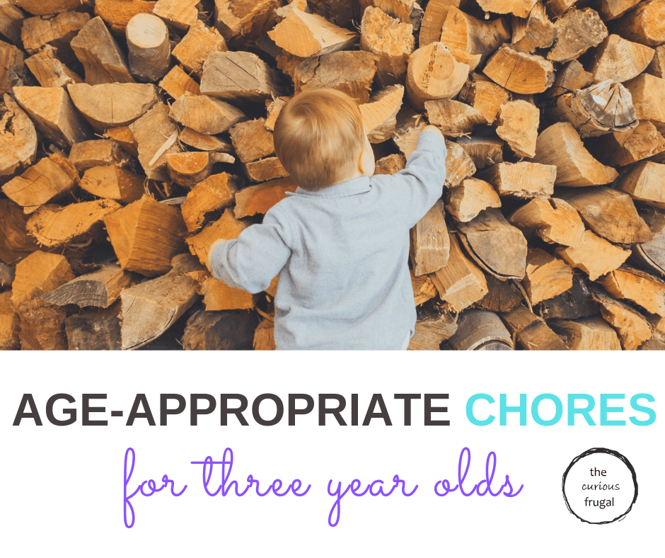 Do you think 2 or 3 year olds are too young to do chores?  I don't think they are and I'll tell you why.  Here are age-appropriate chores for 3 year olds, because it's not too early to start. #choresforkids #choreideas #toddlers #preschoolers #parenting
