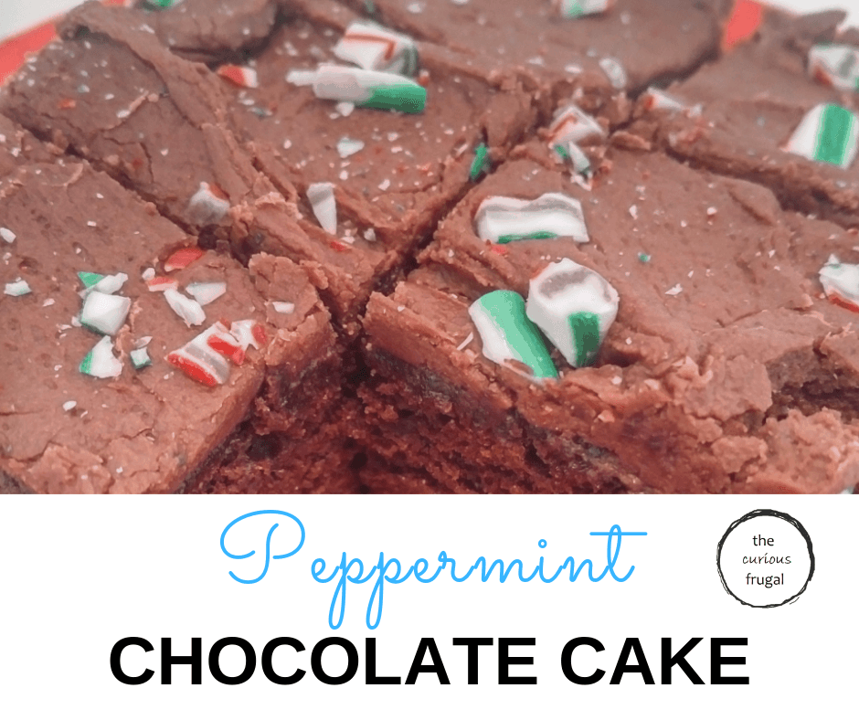 This peppermint chocolate cake is a rich chocolate cake with chocolate peppermint icing, decorated with candy canes. It makes the perfect winter dessert! #desserts #chocolate #chocolatecake #holidaybaking #candycanes
