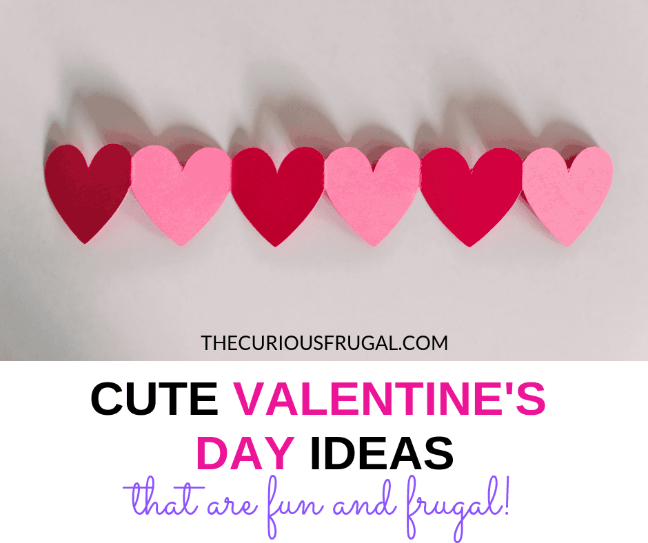 Any frugal couples out there? You do not have to spend lots of money on Valentine's Day. Here are cheap Valentine's Day ideas that are fun and frugal. #frugalliving #frugal #valentines #valentinesday #dateideas #valentinesideas #giftguide #frugalgifts