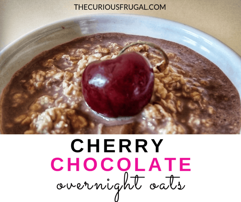 Cherry Chocolate Overnight Oats (it's like dessert for breakfast!)