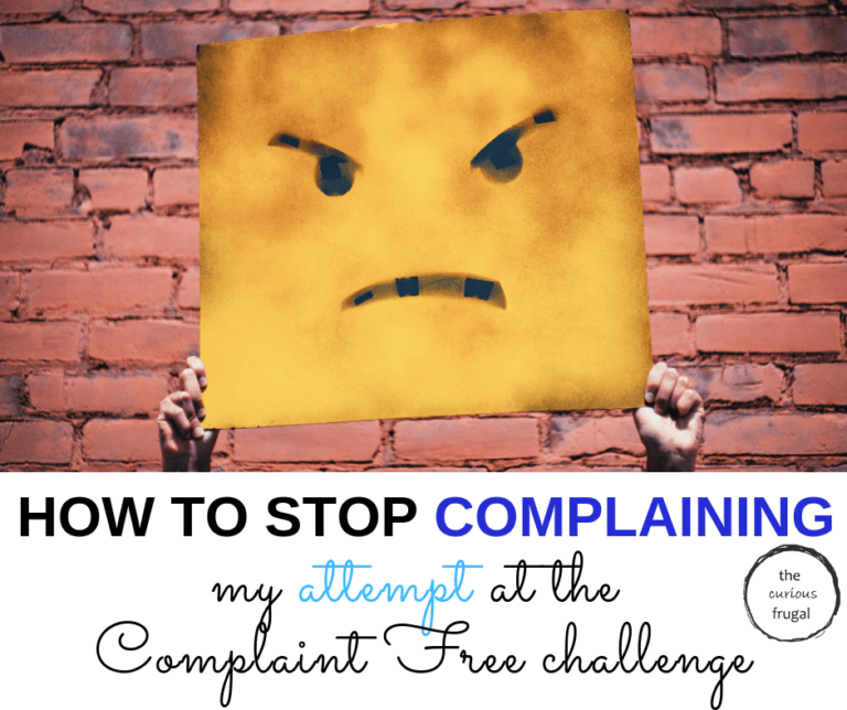How to stop complaining: my attempt at the Complaint Free challenge