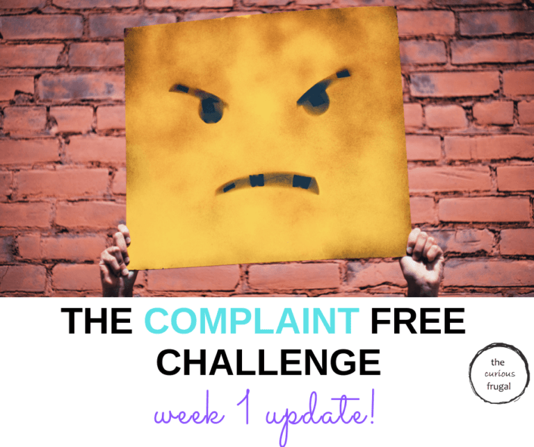 My attempt at the Complaint Free Challenge – week 1 update