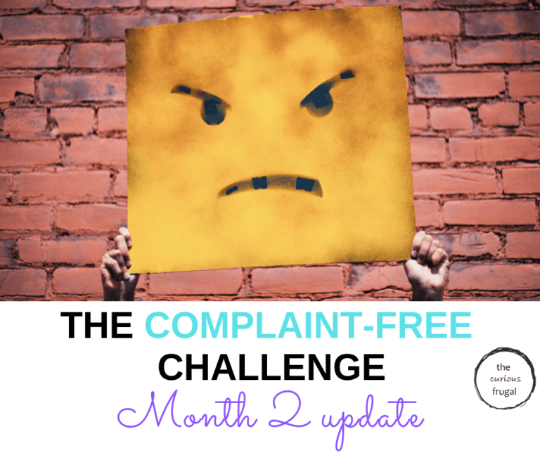 Complaint-Free Challenge – Month 2 Update