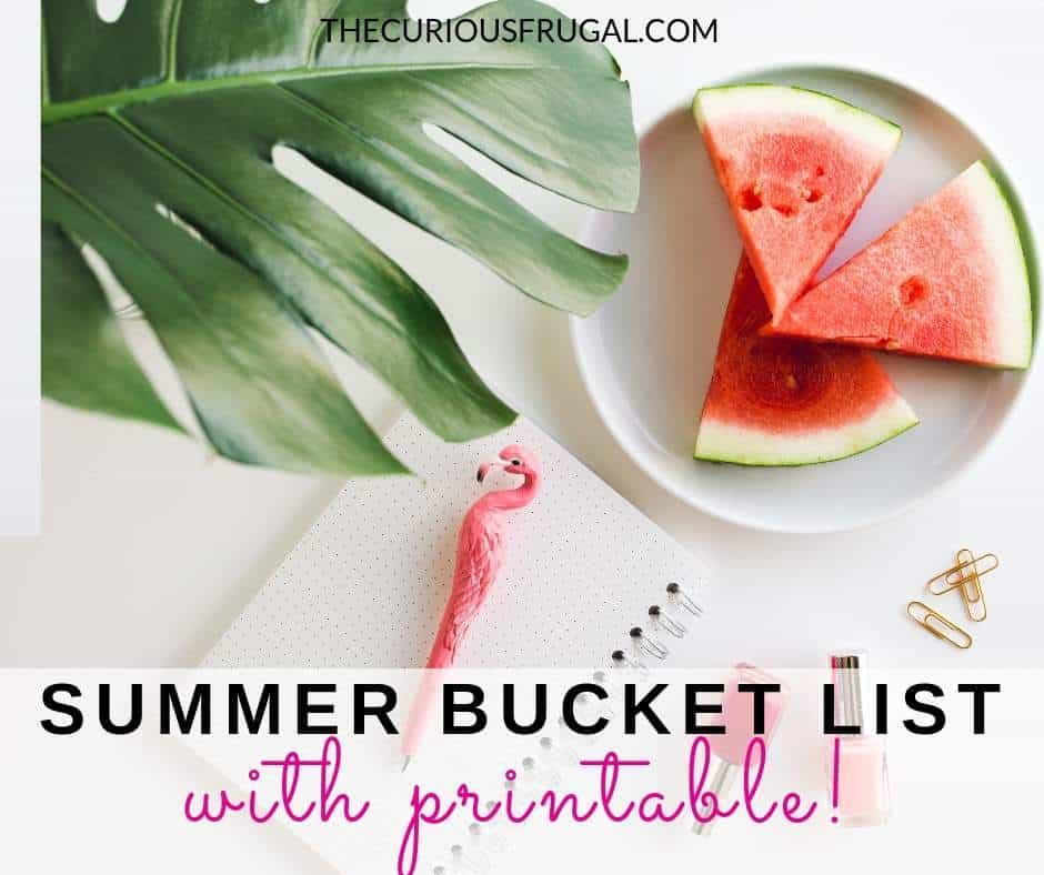 Summer bucket list for kids + free bucket list printable checklist