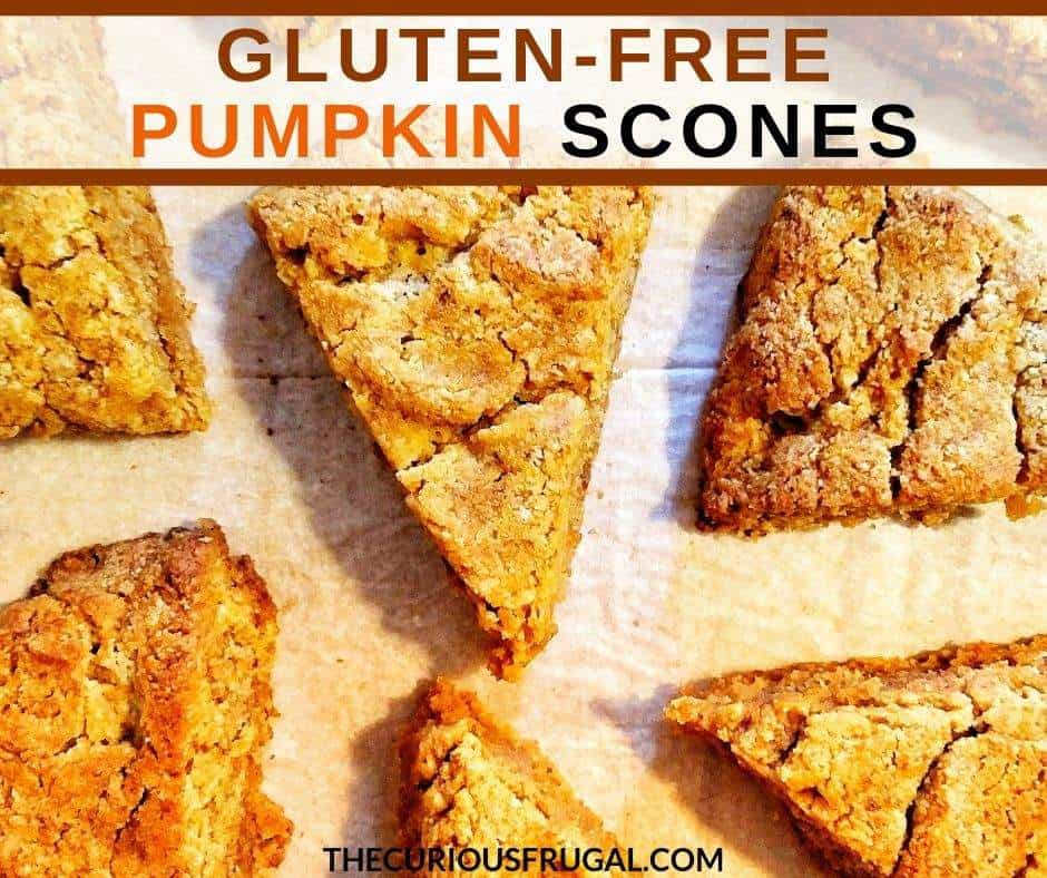 This pumpkin scones recipe is for gluten-free pumpkin scones. They are moist and delicious and not at all dry like some gluten-free baking can be! I'm thrilled with how they turned out! They also happen to be vegan scones and are made with almond flour so they're packed with protein.