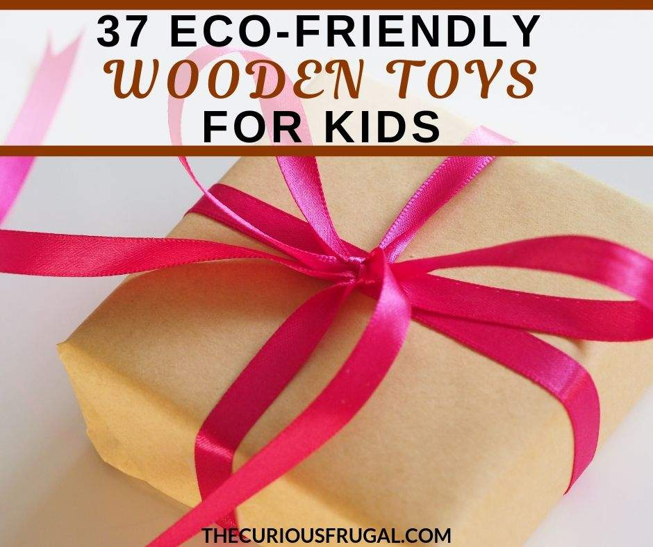 Are you looking for high quality non plastic toys for kids? Wooden toys for kids can be sturdier, more eco-friendly, and non-toxic than plastic toys. This list gives so many fun ideas of natural wood toys kids will love! Gift ideas for Christmas, stocking stuffers, birthday gifts, baby shower gifts, and more.