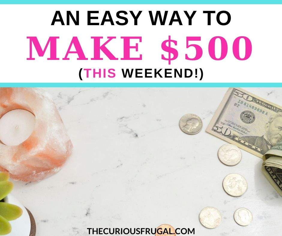 Would you like to make $500 fast?  There is a simple way to make $500 in a week (realistically!) without having to leave your home. | make money from home | side hustle