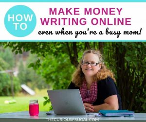 How to make money writing online. Would you love to make money from home as a freelance writer? For many people, this is a dream side hustle or dream job. This homeschooling mom of 9 will show you how to start freelance writing, even if you're a super busy mom.| freelance writing jobs | freelance writing for beginners | online jobs | work from home | freelance writing course |