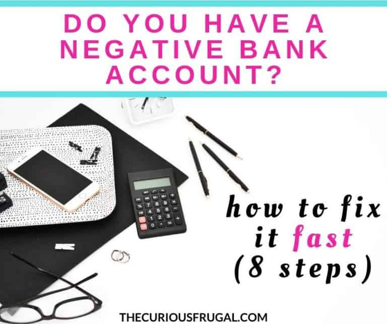 Do you have a negative bank account? How to fix it fast!