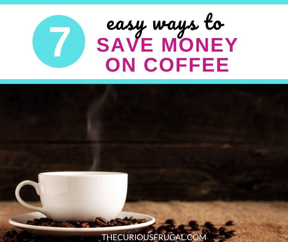 Omg, coffee. Why are you so wonderful? For many of us, drinking coffee is a (more than) daily habit. Here are 7 simple ways to save money on coffee. The little things add up! Learn how to save money on your daily coffee with these 7 simple money saving tips! You don't have to give up what you love to live a frugal life. It's all about your money mindset. Your coffee habit doesn't have to be expensive. | wealth building | millionaire mindset | frugal living