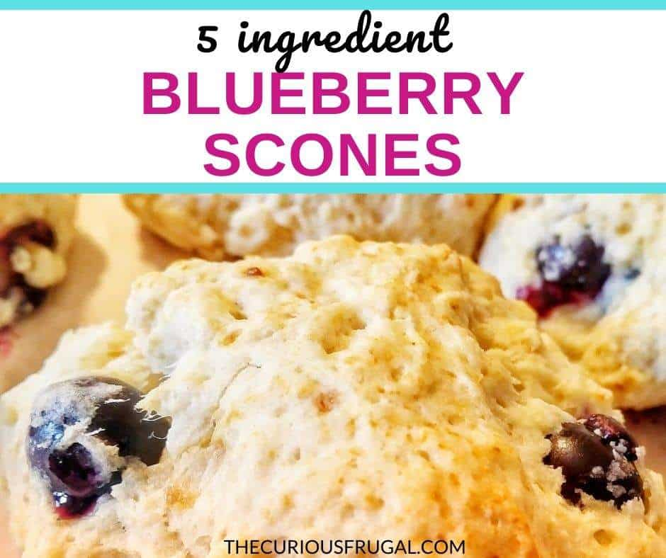 These blueberry scones are to die for! They are such an easy blueberry scones recipe, with only 5 ingredients and takes about 15 minutes to make from start to finish! Make these quick blueberry scones for breakfast, brunch, dessert, with your coffee or tea, or a snack to take on the go. These simple blueberry scones don't even require a rolling pin, you just drop the batter and bake! Try these!! |blueberry cream scones | homemade blueberry scones