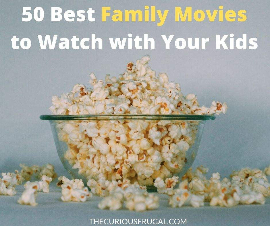50 of the BEST family movies to watch, that kids AND grown-ups will like! These top family movies of all time include the classics, as well as new kids' movies, Disney movies, funny family movies, and more! This big list of family movie ideas is perfect for your next movie night with the kids, or if you are looking for something family-friendly to do when you're bored at home. | must see family movies | fun family movies to watch | family movies on Amazon | family movies on Netflix