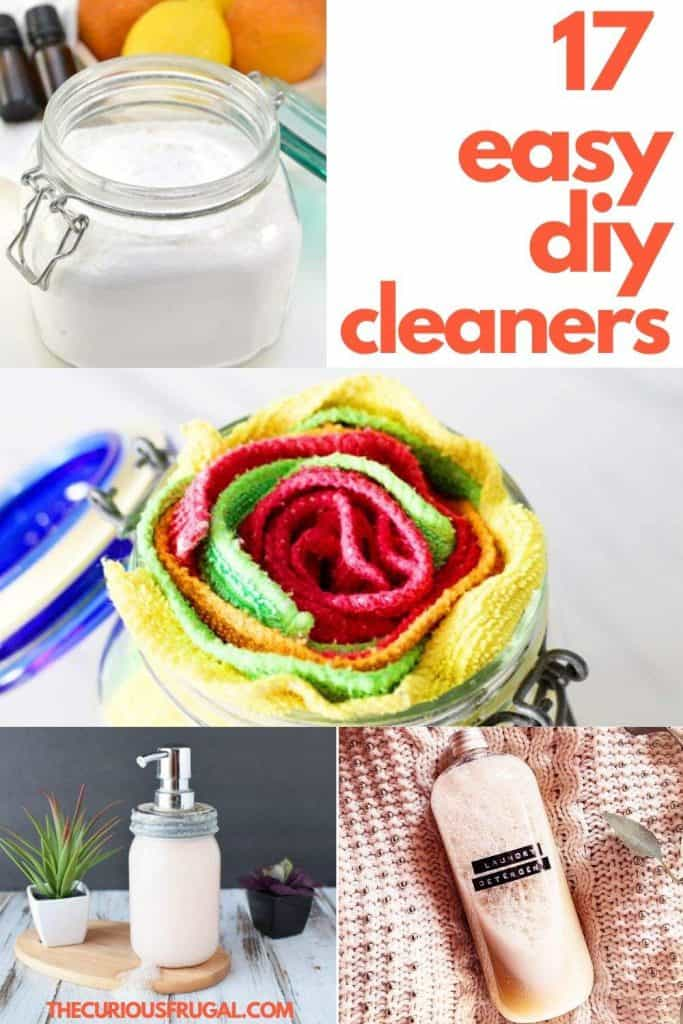 Looking for the best DIY homemade cleaners for your house? Here are 17 frugal homemade cleaners that are actually easy to make! I love this variety of recipes that teach you how to make homemade cleaners with a few simple ingredients. If you want to ditch the commercial cleaners (or you just can't find them in stores these days), check out these simple homemade cleaner recipes! | spring cleaning tips | diy cleaning products | diy cleaners | eco friendly | home cleaning products #DIYhomemadecleaningproducts #cleaningtips #savemoney