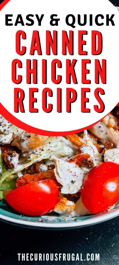 Canned chicken salad recipe