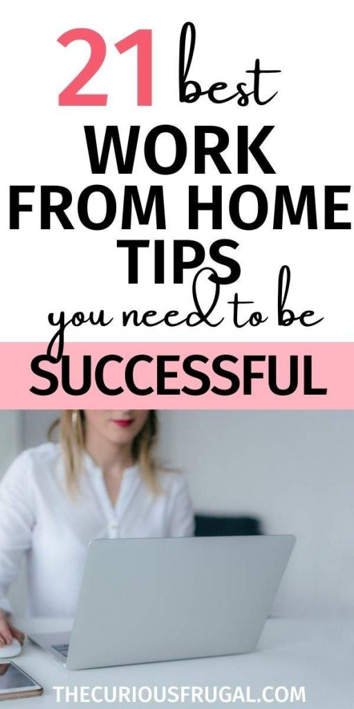 21 best work from home tips you need to be successful (woman working at home on laptop)