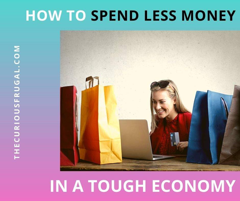 How to Spend Less Money in a Tough Economy (wallet with $5 bills)