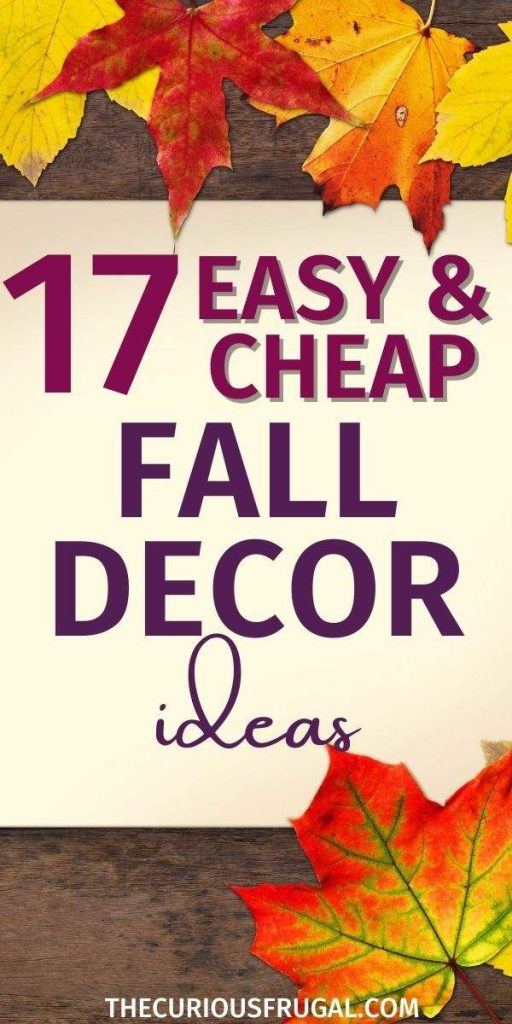 17 Easy and Cheap Fall Decor Ideas (with fall maple leaves)