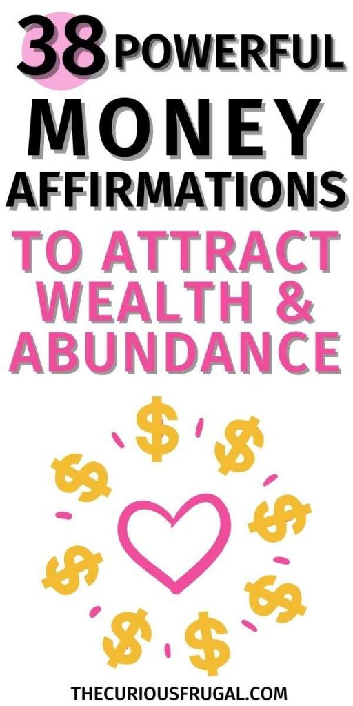 38 Powerful Money Affirmations to Attract Wealth & Abundance (heart with dollar signs)