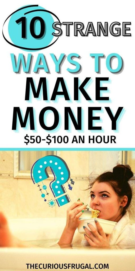 10 Strange ways to make money $50-$100 an hour - woman thinking with a question mark above her head