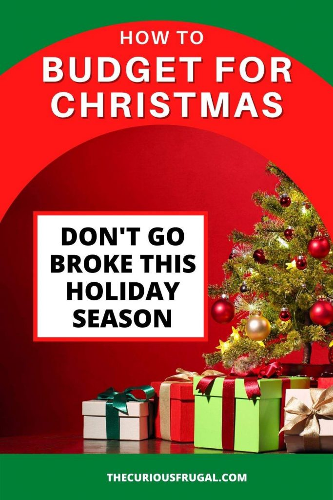 How to budget for Christmas - don't go broke this holiday season (Christmas tree with presents under it)