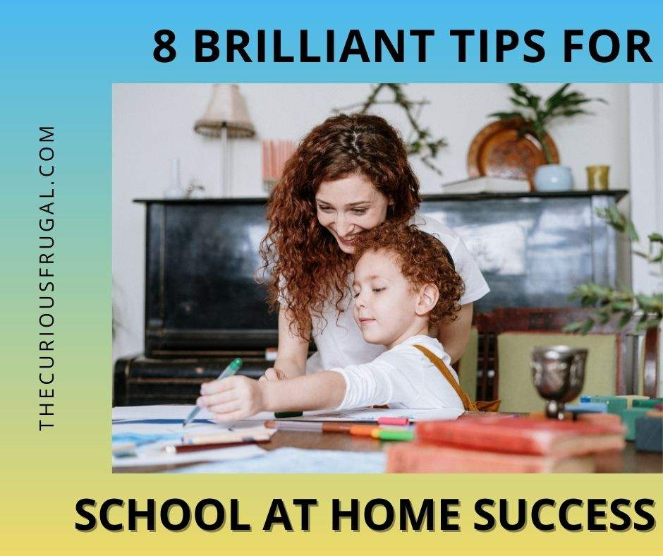 8 Brilliant tips for school at home success (mom homeschooling child)