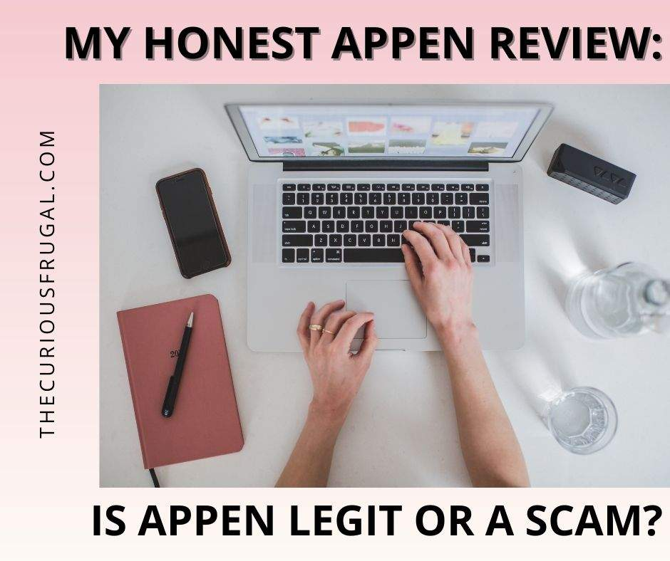 My honest Appen review – is Appen legit or a scam? (woman working on laptop with planner and cell phone beside her)