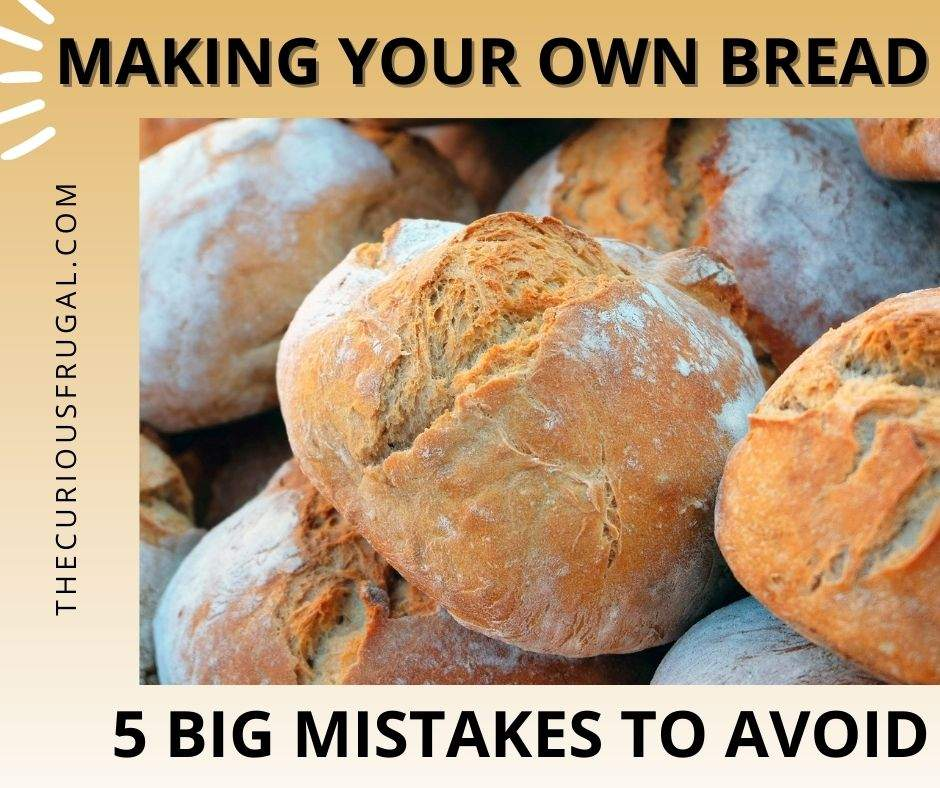 Making your own bread - 5 big mistakes to avoid (loaves of crusty homemade bread)