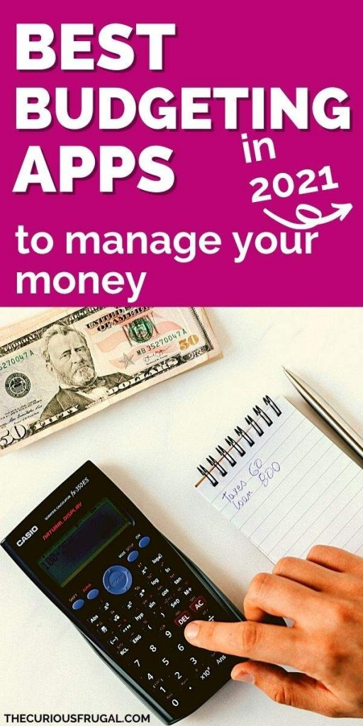 Best budgeting apps to manage your money in 2021 - hand with calculator, note pad with pen, and $50 bills