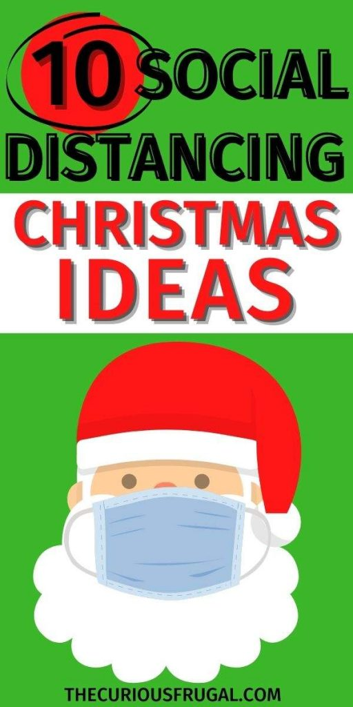 10 Social distancing Christmas ideas - Santa Claus with a mask on
