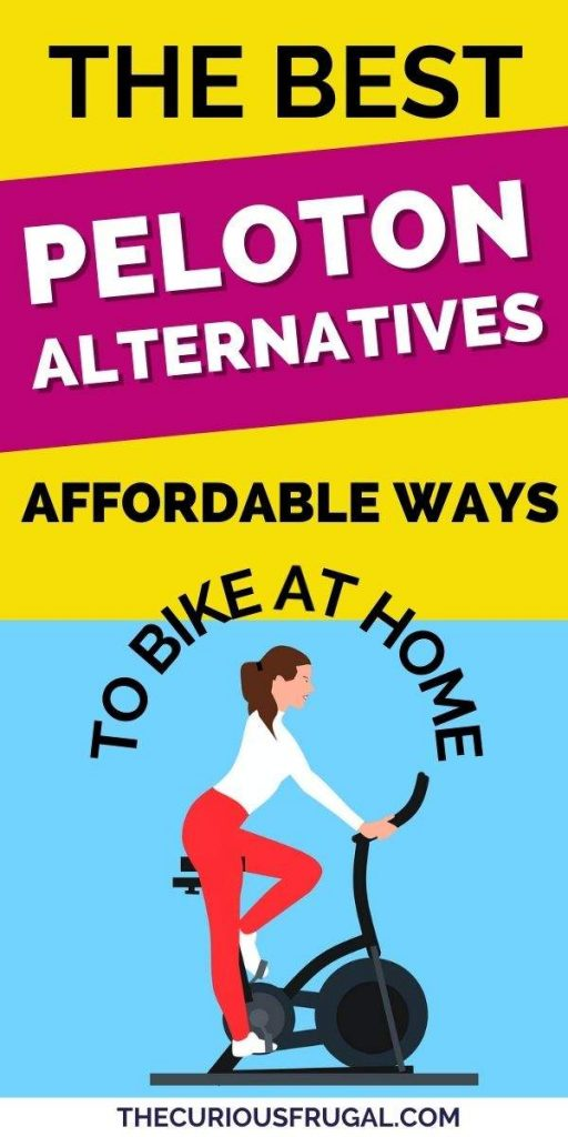 The best peloton alternatives: affordable ways to bike at home. (woman on an indoor exercise bike)