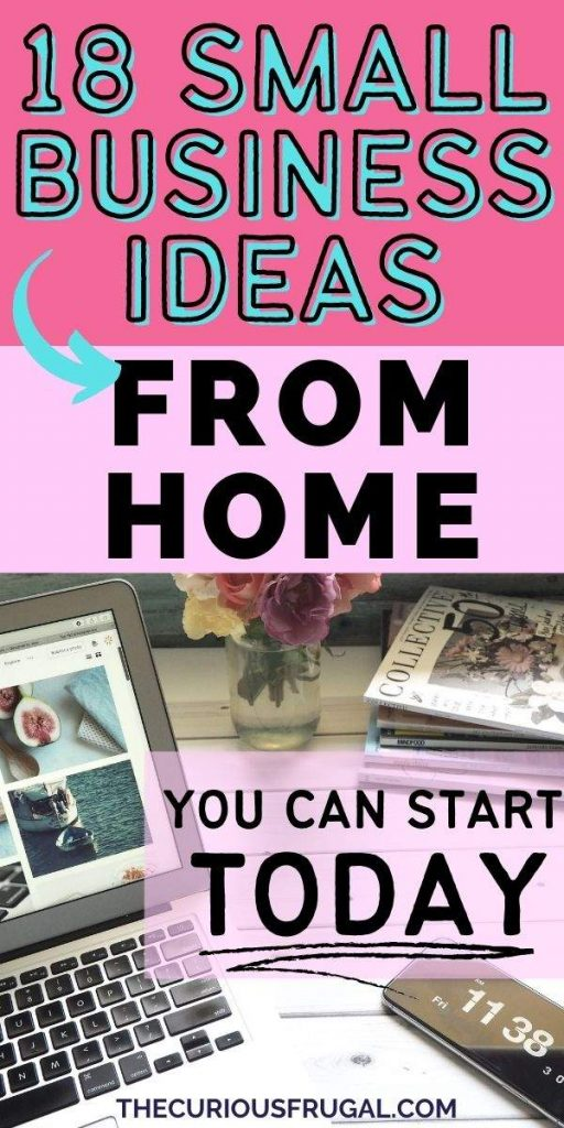 18 small business ideas from home you can start today (laptop on desk at home with flowers and clock)