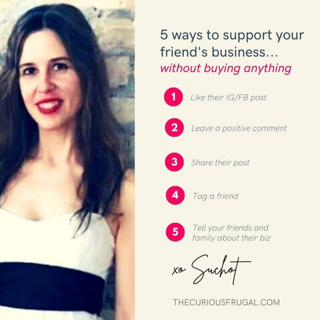 5 Ways to Support Your Friend's Business...Without Buying Anything