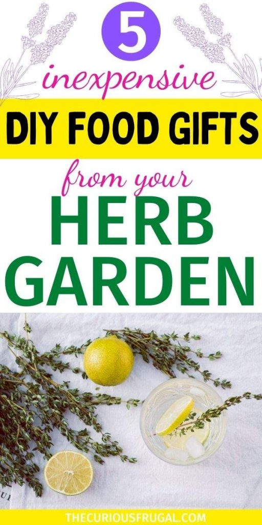 5 inexpensive DIY food gifts from your herb garden (fresh herbs and lemons on a table)