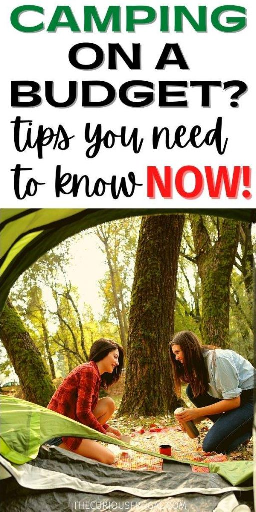 Camping on a budget: tips you need to know now (2 women setting up a tent in the woods)