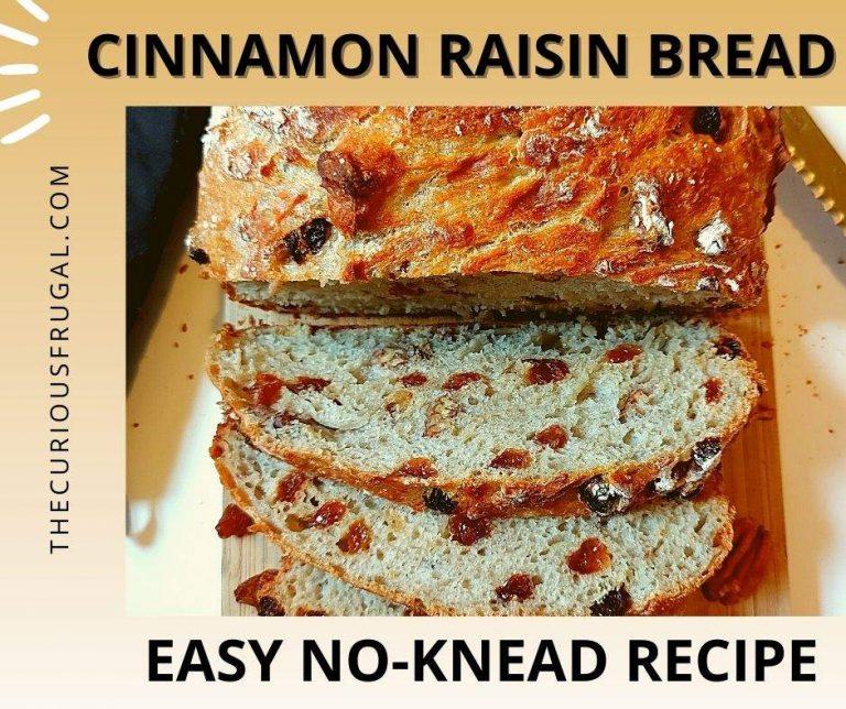 Cinnamon Raisin Bread Recipe with Pecans: Easy and No-Knead