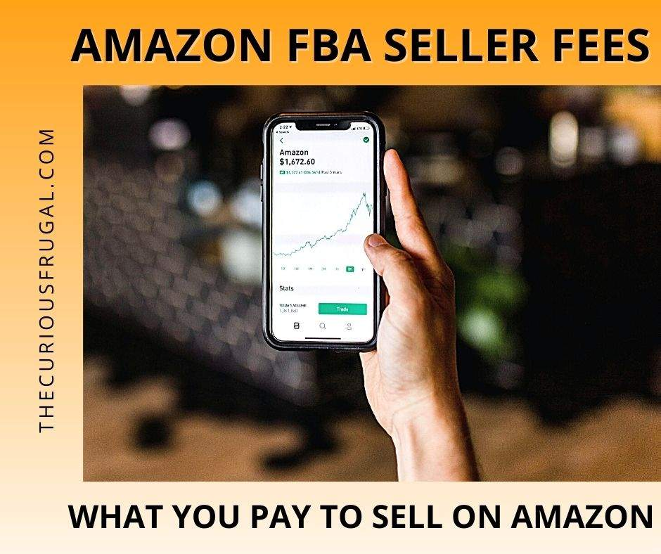 Amazon FBA seller fees – what you pay to sell on amazon (cell phone with Amazon app)