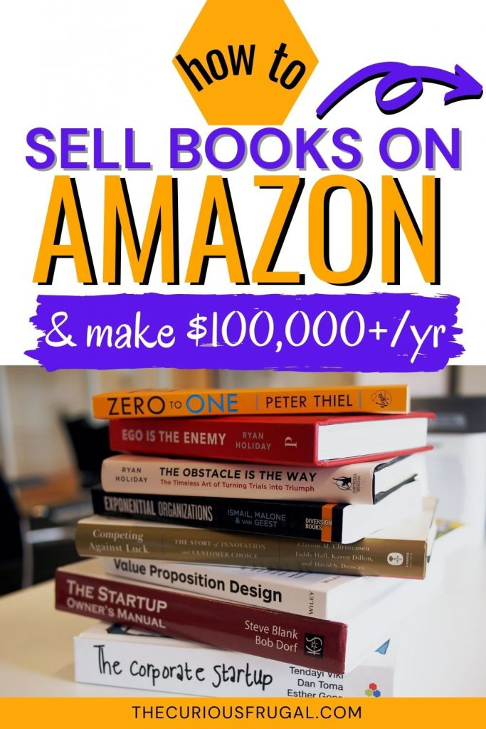 How to sell books on Amazon (& make $100,000+/yr) - stack of books on a table