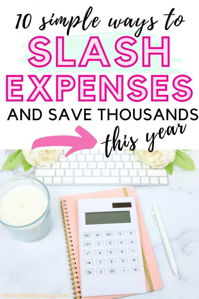 10 simple ways to slash expenses and save thousands this year (calculator, notebook, pen, and laptop on a desk)