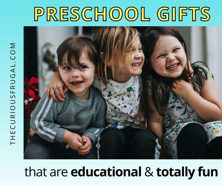 Preschool Gifts that are educational and totally fun (3 preschoolers smiling)