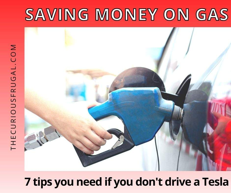 Saving money on gas: 7 tips you need if you don't drive a Tesla (woman pumping gas at a gas station)